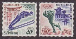 Gabon, 1972, Olympic Winter Games Sapporo, Ski Jump, Skating, MNH, Michel 454-455 - Gabon (1960-...)
