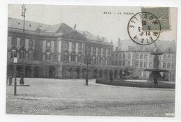 METZ EN 1921 - LE THEATRE - BEAU CACHET - CPA VOYAGEE - Metz
