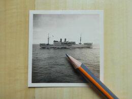 LE S.S. LEOPOLDVILLE 1933 RETOUR DE LA BANQUISE - PAQUEBOT COMPAGNIE BELGE COULE EN 1944 - PHOTOGRAPHIE - Barcos