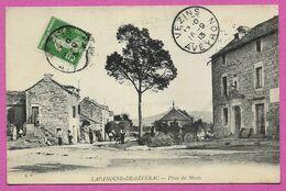 12 Aveyron Lapanouse De Severac Place Du Musee Env De Sévérac Le Chateau Rodez Et Millau Posté à Vezins - France