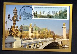 1 -CARTE  Maximum --   CONGRES PHILATELIQUE  PARIS   06/2008 -- LISA  P 0,65 - 2000-09