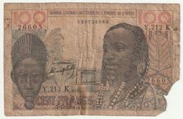 Banque Centrale Des états De L'Afrique De L'Ouest - 100Francs  ( Vendu Dans L'état ) - West African States