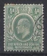 """K.U.T...KING EDWARD VII...(1901-10..).."""" 1903..""""..HALFa....GREEN....SG1...WATERMARK CROWN CA..(CAT.VAL.£22..)..USED. - Herrschaften Von Ostafrika Und Uganda"""