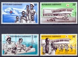 Gabon, 1969, Red Cross, Aid For Biafra, MNH, Michel 337-340 - Gabon (1960-...)