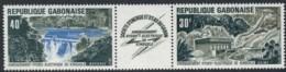 Gabon, 1973, Dam, Water Energy, MNH Strip, Michel 507-508 - Gabon (1960-...)