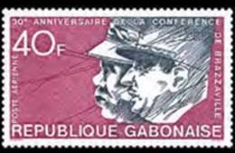 Gabon, 1974, De Gaulle, Brazzaville Conference, MNH, Michel 529 - Gabon
