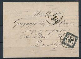 DS-188: FRANCE: Lot Avec Taxe N°5 Sur Document (voir Scan) - Postage Due