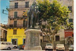 CORTE: Le Général PAOLI,( Statue De Bronze Par Victor HUGUENIN)  Magasins - Corte