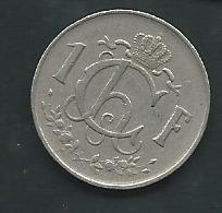 LUXEMBOURG   -   1 FRANC 1952 LUXEMBURG -  Laupi 13610 - Lussemburgo
