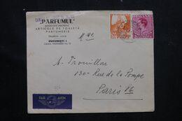 ROUMANIE - Enveloppe Commerciale ( Parfum ) De Bucarest Pour Paris En 1938 - L 70975 - Briefe U. Dokumente