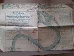 Syrie Euphrate Plan Reconnaissance Du Fleuve 1922 Region Alaoua - Welt