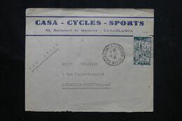MAROC - Enveloppe Commerciale ( Cycles)  De Casablanca Pour Levallois Perret En 1946 - L 70982 - Briefe U. Dokumente