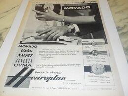 ANCIENNE PUBLICITE LA MODE ET LA  MONTRE  MOVADO 1959 - Juwelen & Horloges