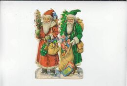 Découpis / Couple De Pere Noel / Circa1900 - Motivos De Navidad