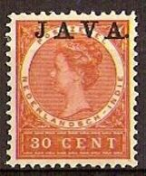 Nederlands Indie 1908 NVPH Nr 77a Ongebruikt/MH Opdruk JAVA HOOGSTAAND - India Holandeses