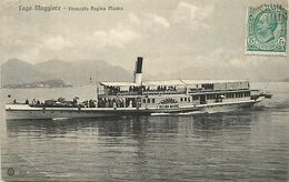 Pays Div- Ref X685- Italie -italia -italy - Bateaux -bateau A Roue Regina Madre -lago Maggiore -piroscafo Regina Madre - - Unclassified