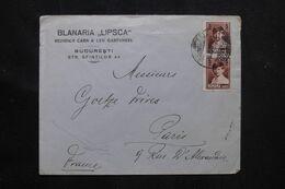 ROUMANIE- Enveloppe Commerciale De Bucarest Pour Paris En 1929 - L 70990 - Briefe U. Dokumente