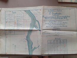 Syrie Euphrate Plan Reconnaissance Du Fleuve 1922 Region Meskene - Welt