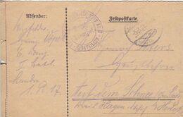 Feldpostkarte - Feldpost Kgl. Preuss. Landw. Inf. Regt. Nr. 17 - 1918 (51652) - Covers & Documents
