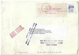 USA Airmail Machine Cancellation 1988 Mary Cassatt, Art, Painter Postal History Cover Sent To Pakistan. - Brieven En Documenten