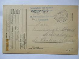 Frankreich Verdun, Feldpost Alpenkorps 1916 Nach Sachsenberg (65398) - War 1914-18