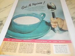 ANCIENNE PUBLICITE  OUI  LE TAPIOCA  1959 - Afiches