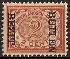 Nederlands Indie 1908 NVPH Nr 83f Ongebruikt/MH Opdruk BUITEN BEZIT Kopstaand (Bezit Buiten) - Netherlands Indies