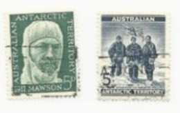 AUSTRALIA ANTARCTIC TERRITORY - EDGEWORTH DAVID; DOUGLAS MAWSON; A.F. MCKAY - Used Stamps
