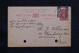CHYPRE - Entier Postal De Larnaca  Pour Paris En 1909  - L 71023 - Cyprus (...-1960)