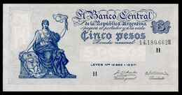 P 264d  5 PESOS 1956  Série H (Bottero - B1871) *** AUNC *** N° 14,180,672H    RARE Série !!! - Argentina