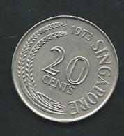 SINGAPOUR : 20 CENTS 1973   Laupi 13813 - Singapore