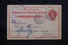 BRÉSIL - Entier Postal De Bahia Pour Paris En 1907  - L 71025 - Enteros Postales