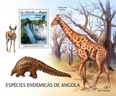 ANGOLA 2019 - Endemic Sp, Kalandula Falls, S/S. Official Issue [ANG190204b] - Water