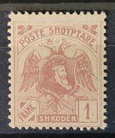 """Albanien 1922, Mi 81 """"ohne Aufdruck"""" MH Ungebraucht - Albanien"""