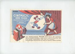 Buvard  . Cinémagic . MICKEY MOUSE - Leche