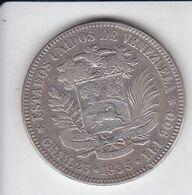MONEDA DE PLATA DE VENEZUELA 5 BOLIVARES DEL AÑO 1935 DE BOLIVAR - 25 GRAMOS Y LEI 900  (COIN) SILVER,ARGENT. - Venezuela