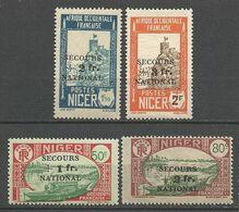 NIGER N° 89 à 92  NEUF** SANS CHARNIERE  / MNH - Niger (1921-1944)