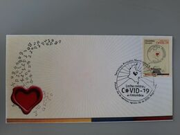 RA) 2020, COLOMBIA, FIGHT AGAINST PANDEMIC, NATIONAL POSTAL SERVICES, FDC - Colombia
