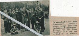 """LOKEREN..1936.. DE BOOGSCHUTTERS """"SINT SEBASTIAAN """" DE HEER VAN DEN BREEM MET DE ERETITEL - Unclassified"""