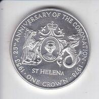 MONEDA DE PLATA DE SANTA HELENA DE 1 CROWN DEL AÑO 1978 (COIN) SILVER-ARGENT - Saint Helena Island