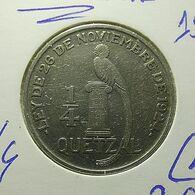 Guatemala 1/4 Quetzal 1926 Silver - Guatemala