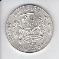 MONEDA DE PLATA DE SINGAPORE DE 10 DOLLARS DEL AÑO 1973 - AGUILA-EAGLE (COIN) SILVER,ARGENT. - Singapore