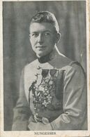 Carte-Photo : Portrait Militaire - Aviateur - Pilote NUNGESSER - Médailles (BP) - Krieg, Militär