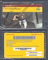 Tc012 ZAMBIA MTN Phonecard, Man On Phone  K50,000, UNUSED, STILL IN WRAPPER - Zambia