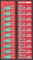 Tc025 ZAMBIA  Airtel Phonecard, 10 X K2,000, Multipack, UNUSED - Zambia