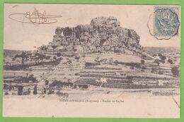 Belle CPA Précurseur Dos Simple SAINT AFFRIQUE Rocher De Caylus 12 Aveyron Cachet Convoyeur Ambulant à Marvejols 1904 - Saint Affrique
