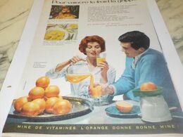 ANCIENNE PUBLICITE VAINCRE LA GRIPPE LE FROID  ORANGE 1959 - Afiches