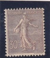 /// FRANCE --  Semeuse  Lignée 30cts Lilas N°133 Neuf * Charniere + Aminci - Côte 200€ - 1903-60 Semeuse A Righe