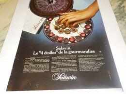 ANCIENNE  PUBLICITE  CHOCOLAT 4 ETOILES  DE SALAVIN  1976 - Afiches