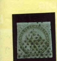 FRANCE - 1859-65 - Aigle Impérial - N° 1 - 1 C. Olive (Oblitération : Losange De Points) - Aquila Imperiale